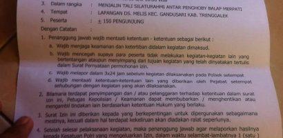 Surat Ijin LJB'18 Trenggalek Sudah Keluar
